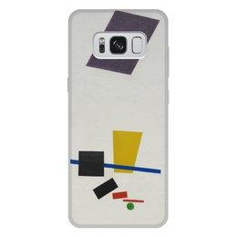 """Чехол для Samsung Galaxy S8 Plus, объёмная печать """"Супрематизм. Живописный реализм футболиста"""" - футбол, картина, живопись, супрематизм, малевич"""