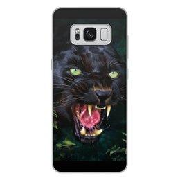 """Чехол для Samsung Galaxy S8 Plus, объёмная печать """"ПАНТЕРА. ФЭНТЕЗИ"""" - стиль, глаза, красота, клыки, ярость"""