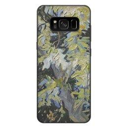 "Чехол для Samsung Galaxy S8 Plus, объёмная печать ""Ветви цветущей акации (Винсент ван Гог)"" - картина, ван гог"
