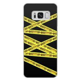 "Чехол для Samsung Galaxy S8 Plus, объёмная печать ""Off-white"" - надписи, бренд, brand, off-white, оф вайт"