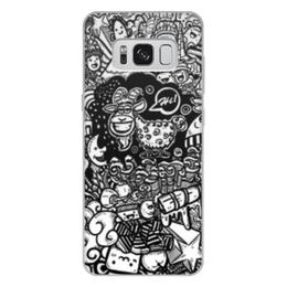 """Чехол для Samsung Galaxy S8 Plus, объёмная печать """"Иллюстрация"""" - звезда, люди, баран, ананас, козел"""