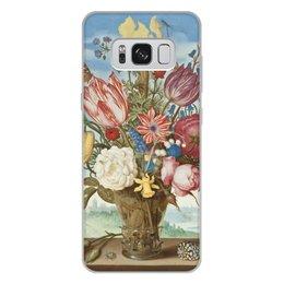 """Чехол для Samsung Galaxy S8 Plus, объёмная печать """"Букет цветов на полке (Амброзиус Босхарт)"""" - цветы, картина, живопись, натюрморт, босхарт"""