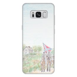 """Чехол для Samsung Galaxy S8 Plus, объёмная печать """"Кавалерия Конфедерации"""" - армия, война, сша, кавалерия, гражданская война сша"""