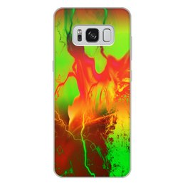 "Чехол для Samsung Galaxy S8 Plus, объёмная печать ""Пятна краски"" - узор, космос, пятна, краски, абстракция"