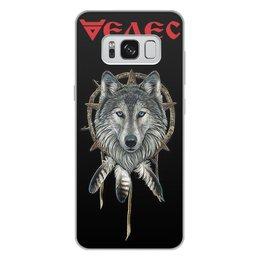 """Чехол для Samsung Galaxy S8 Plus, объёмная печать """"ВЕЛЕС. СЛАВЯНСКИЕ БОГИ"""" - стиль, волк, тотем, славянская мифология, арт фэнтези"""