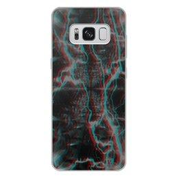 """Чехол для Samsung Galaxy S8 Plus, объёмная печать """"Молния"""" - узор, космос, краски, абстракция, молния"""