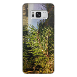 """Чехол для Samsung Galaxy S8 Plus, объёмная печать """"Удивительный Алтай"""" - лето, summer, природа, озеро, алтай"""