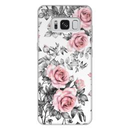 """Чехол для Samsung Galaxy S8 Plus, объёмная печать """"Цветы"""" - цветы, розы"""