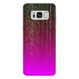 """Чехол для Samsung Galaxy S8 Plus, объёмная печать """"Матрица"""" - компьютеры, матрица, код, программа, пароль"""