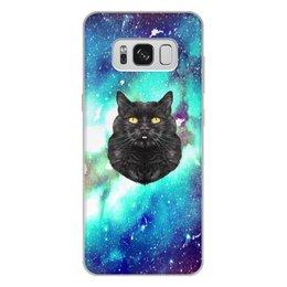 """Чехол для Samsung Galaxy S8 Plus, объёмная печать """"Кот в космосе"""" - кот, звезды, котенок, космос, коты в космосе"""
