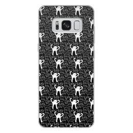 """Чехол для Samsung Galaxy S8 Plus, объёмная печать """"ЪУЪ ЪУЪ"""" - мемы, черный кот, cursed cat, мем с котом, ъуъ съука"""