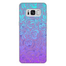 """Чехол для Samsung Galaxy S8 Plus, объёмная печать """"Мираж"""" - рисунок, роспись, гжель"""