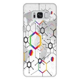 """Чехол для Samsung Galaxy S8 Plus, объёмная печать """"Формула"""" - узор, текстура, формула, химия, молекулы"""