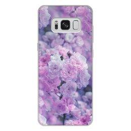 """Чехол для Samsung Galaxy S8 Plus, объёмная печать """"Цветы"""" - цветы"""