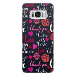 """Чехол для Samsung Galaxy S8 Plus, объёмная печать """"День Св. Валентина"""" - день св валентина, валентинка, сердца, любовь"""