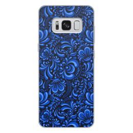 """Чехол для Samsung Galaxy S8 Plus, объёмная печать """"Роспись"""" - рисунок, роспись, гжель"""