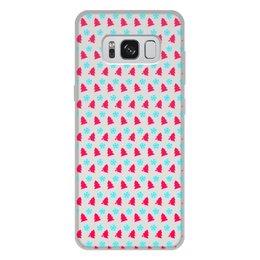 """Чехол для Samsung Galaxy S8 Plus, объёмная печать """"С новым годом!"""" - happy new year, новый год, снег, christmas, ёлки"""