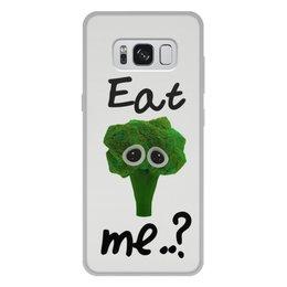 """Чехол для Samsung Galaxy S8 Plus, объёмная печать """"Eat me..?"""" - еда, печаль, мимими, брокколи, broccoli"""