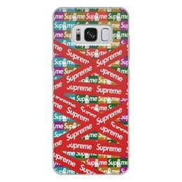 "Чехол для Samsung Galaxy S8 Plus, объёмная печать ""Supreme"" - надписи, бренд, brand, supreme, суприм"