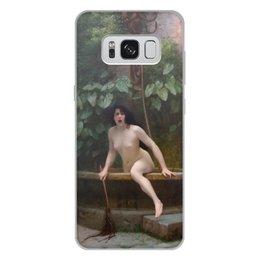 """Чехол для Samsung Galaxy S8 Plus, объёмная печать """"Истина, выбирающаяся из колодца (Жан-Леон Жером)"""" - картина, академизм, живопись, ню, жером"""