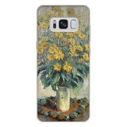 """Чехол для Samsung Galaxy S8 Plus, объёмная печать """"Топинамбур (картина Клода Моне)"""" - цветы, картина, импрессионизм, живопись, моне"""
