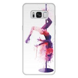 """Чехол для Samsung Galaxy S8 Plus, объёмная печать """"Pole Dance"""" - девушка, спорт, танцы, хобби, poledance"""