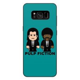"""Чехол для Samsung Galaxy S8 Plus, объёмная печать """"Pulp Fiction"""" - тарантино, культовое кино, джон траволта, сэмюэл лерой джексон, криминальное чтиво"""