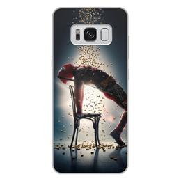 "Чехол для Samsung Galaxy S8 Plus, объёмная печать ""Deadpool"" - комиксы, marvel, deadpool, марвел, дэдпул"