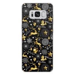 """Чехол для Samsung Galaxy S8 Plus, объёмная печать """"Олени"""" - новый год, олени"""