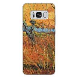 """Чехол для Samsung Galaxy S8 Plus, объёмная печать """"Обрезанные ивы и закат (Винсент Ван Гог)"""" - картина, пейзаж, ван гог, живопись, постимпрессионизм"""