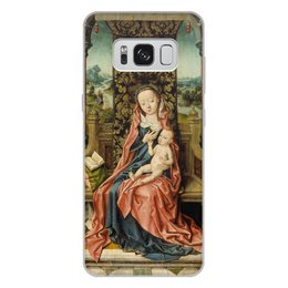 "Чехол для Samsung Galaxy S8 Plus, объёмная печать ""Мадонна с младенцем на троне (Альберт Баутс)"" - картина, живопись, возрождение, баутс"