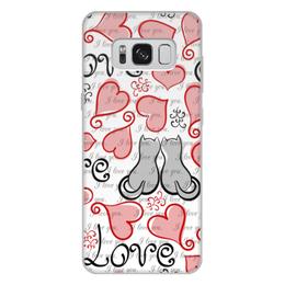 """Чехол для Samsung Galaxy S8 Plus, объёмная печать """"День Св. Валентина"""" - день св валентина, сердце, любовь, коты"""