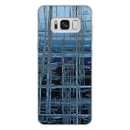 """Чехол для Samsung Galaxy S8 Plus, объёмная печать """"Ледяной срез S8P"""" - фантастика, абстракция, мороз, лед, авторский дизайн"""