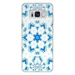 """Чехол для Samsung Galaxy S8 Plus, объёмная печать """"Голос Огня Альт"""" - синий, абстракция, фрактал, спектр"""