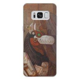 """Чехол для Samsung Galaxy S8 Plus, объёмная печать """"Коллекция"""" - фантастика, робот, иллюстрация, волк"""