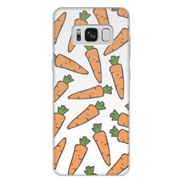 """Чехол для Samsung Galaxy S8 Plus, объёмная печать """"Морковки"""" - лето, веган, здоровье, морковь, овощи"""