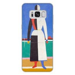 """Чехол для Samsung Galaxy S8 Plus, объёмная печать """"Женщина с граблями (картина Малевича)"""" - картина, живопись, супрематизм, абстракционизм, малевич"""