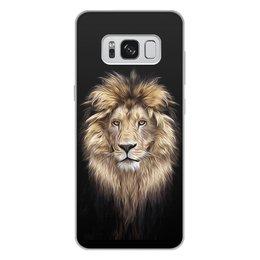 """Чехол для Samsung Galaxy S8 Plus, объёмная печать """"ЛЕВ. ЖИВАЯ ПРИРОДА"""" - хищник, животные, стиль, красота, арт фэнтези"""