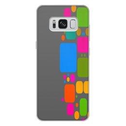 """Чехол для Samsung Galaxy S8 Plus, объёмная печать """"Квадраты"""" - узор, графика, кубики, геометрия, квадраты"""