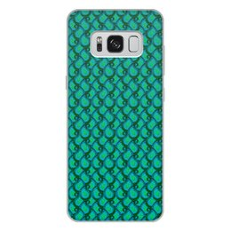 """Чехол для Samsung Galaxy S8 Plus, объёмная печать """"Изумрудный орнамент бута (пейсли)"""" - орнамент, подарок, растения, пейсли, мехенди"""