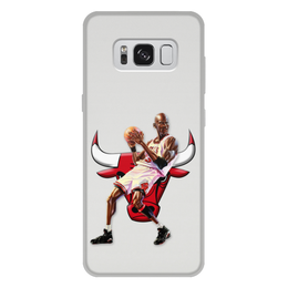 """Чехол для Samsung Galaxy S8 Plus, объёмная печать """"Michael Jordan Cartooney"""" - 23, чикаго, бык, chicago bulls, джордан"""