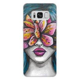 """Чехол для Samsung Galaxy S8 Plus, объёмная печать """"Весна"""" - праздник, девушка, цветы, 8 марта, весна"""