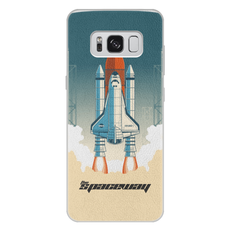 Чехол для Samsung Galaxy S8 Plus кожаный Printio Покорение космоса nordland 391541