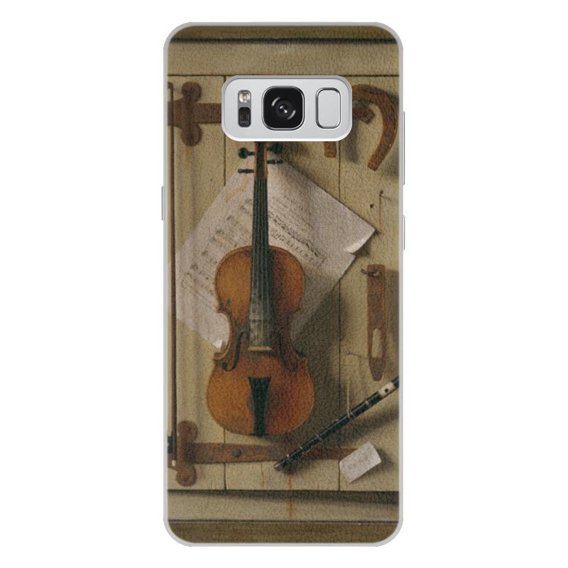 Чехол для Samsung Galaxy S8 Plus кожаный Printio Натюрморт со скрипкой (уильям харнетт) чехол для samsung galaxy s5 printio натюрморт со скрипкой уильям харнетт