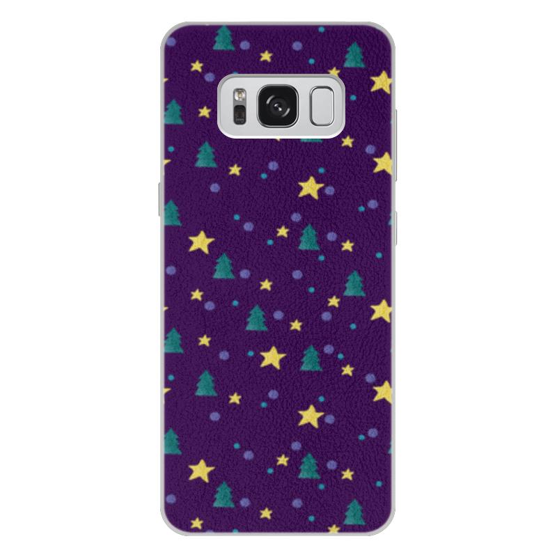 Чехол для Samsung Galaxy S8 Plus кожаный Printio Елки и звезды нашествие дни и ночи