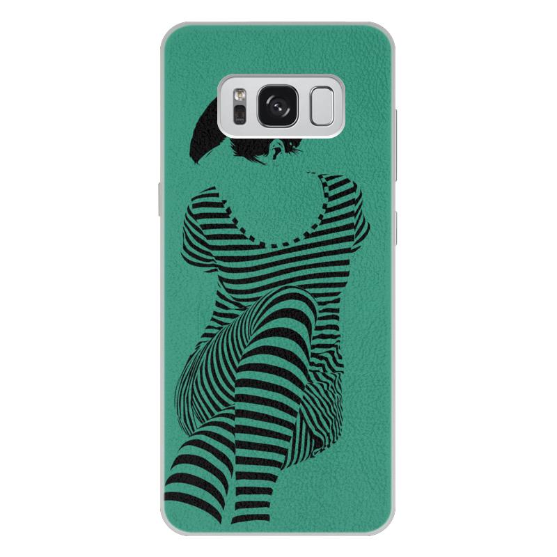 Чехол для Samsung Galaxy S8 Plus кожаный Printio раздвоение личности