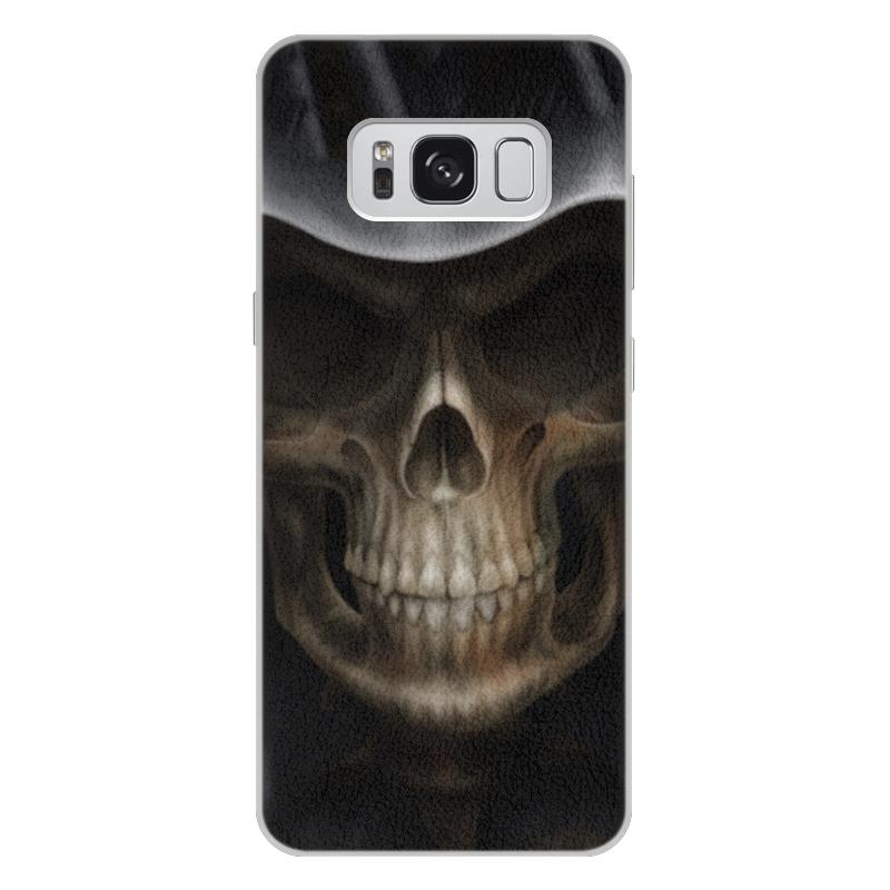 Чехол для Samsung Galaxy S8 Plus кожаный Printio Череп в капюшоне чехол для samsung galaxy s5 printio череп художник