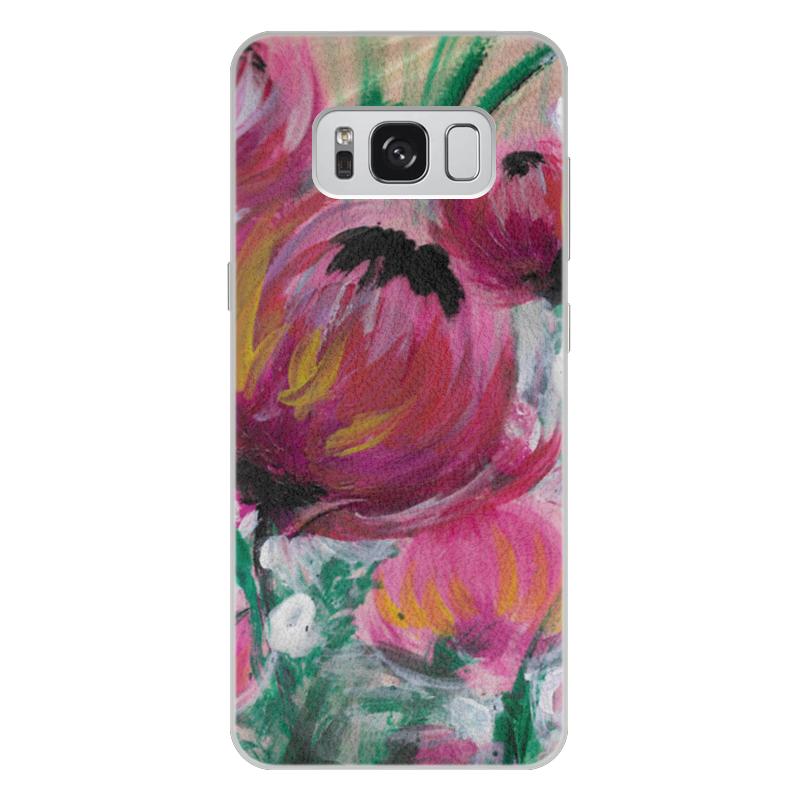Чехол для Samsung Galaxy S8 Plus кожаный Printio Полевые цветы st баллон для автоматического освежителя воздуха полевые цветы 39 мл