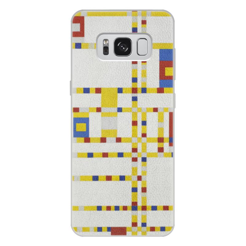 Чехол для Samsung Galaxy S8 Plus кожаный Printio Бродвей буги-вуги (питер мондриан) чехол для samsung galaxy s5 printio бродвей буги вуги питер мондриан