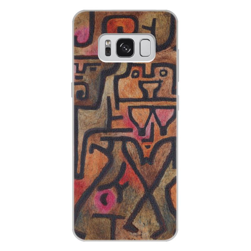 Чехол для Samsung Galaxy S8 Plus кожаный Printio Лесные ведьмы (пауль клее) чехол для samsung galaxy s5 printio лесные ведьмы пауль клее